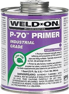 Weld-On 10223 P-70 Purple PVC/CPVC Primer, Low-VOC, 1 quart Can with Applicator Cap, Metal Can