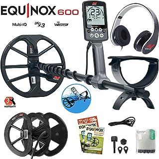 """Minelab Equinox 600 Metal Detector Bundle with 6"""" Equinox 06 Double-D Waterproof"""
