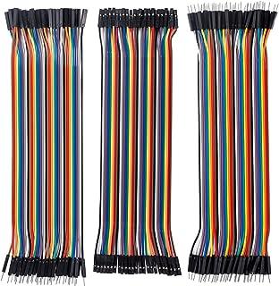 SunFounder 120pcs Breadboard Jumper Wires 20cm Dupont Cable, 40pin M to F, 40pin M to M, 40pin F to F Ribbon Cables Kit fo...