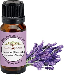 All Naturals 100% Pure Lavender (Himachal) Essential Oil - 15ML For Hair, Skin, Acne & Aroma