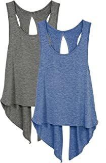 icyzone Sexy Yoga Tops Workout Clothes Racerback Tank Top for Sport Women