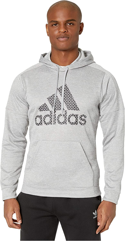 adidas Team Issue Badge of Sport Grid Hoodie: Clothing