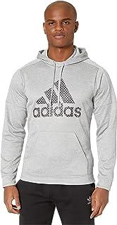 adidas Team Issue Badge of Sport Grid Hoodie Medium Grey Heather XL
