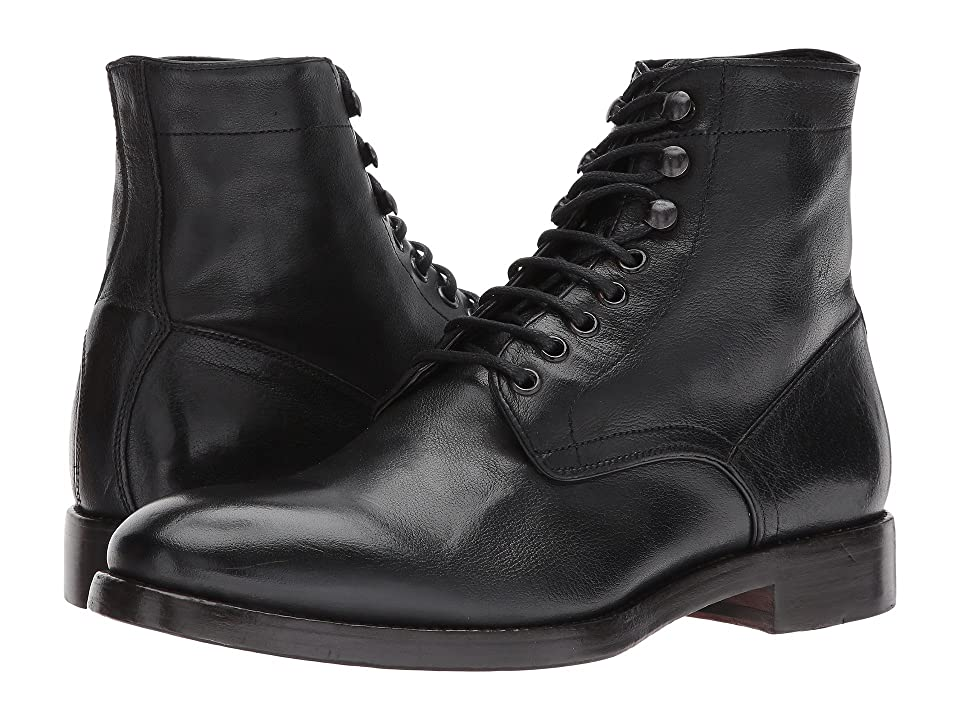 Frye Chase Lace-Up (Black Buffalo Smooth Full Grain) Men
