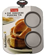 Prestige BakeMaster 2, Single Yorkshire Pudding Tin - 4 Cup