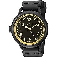 Nixon Men's A488-1354-00 October Analog Display Swiss Quartz Black Watch