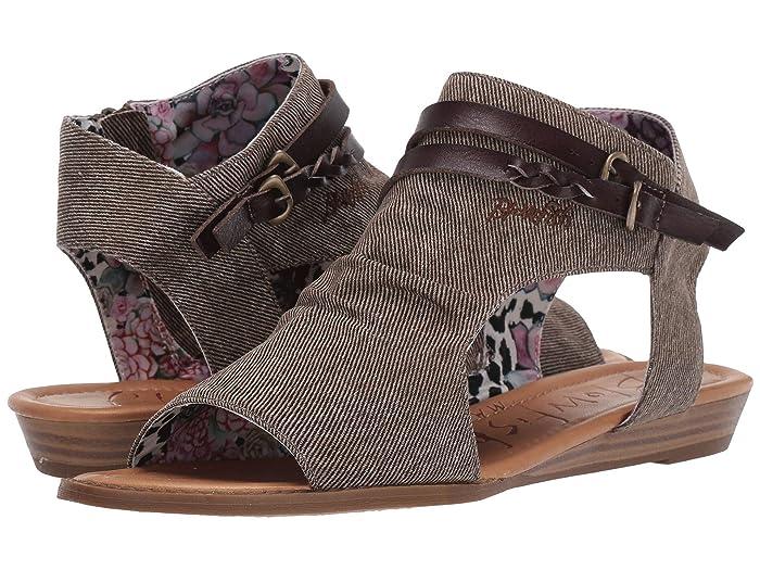 Blowfish  Blumoon (Mud Smokey Twill/Tobacco Die Cut) Womens Sandals