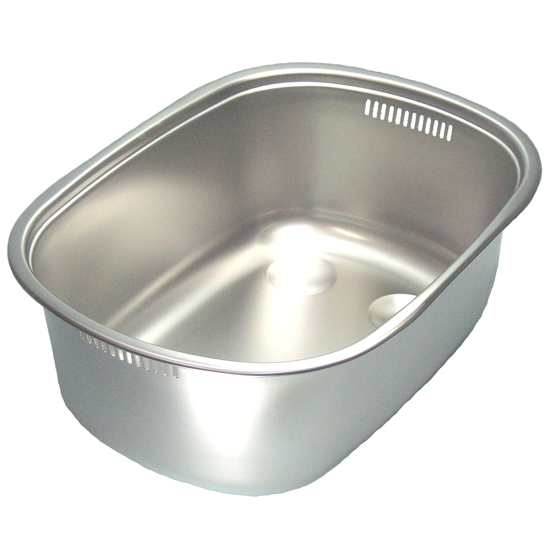 18-8 小判型 洗い桶(足付)