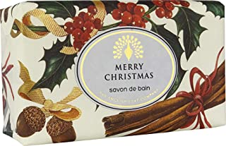 The English Soap Company, Vintage Wrapped Luxury Moisturising Shea Butter Hand Soap, Winter Berries, 200g