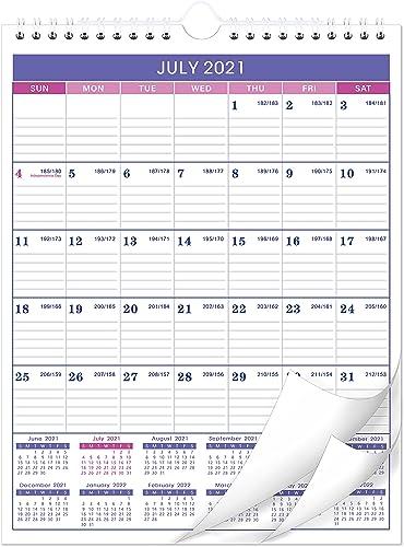 """Calendar 2021-2022 - 18 Months Wall Calendar Planner Jul 2021 - Dec 2022, 11"""" x 8.5"""", Twin-Wire Binding, Large Blocks..."""