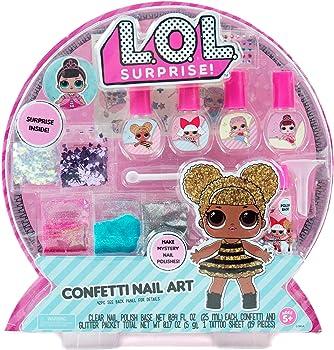 L.O.L. Surprise! Confetti Nail Art
