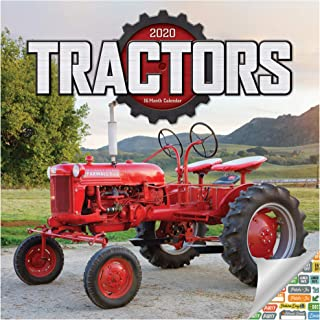 Tractors Calendar 2020 Set - Deluxe 2020 Tractors Wall Calendar with Over 100 Calendar Stickers (Tractors Gifts, Office Supplies)