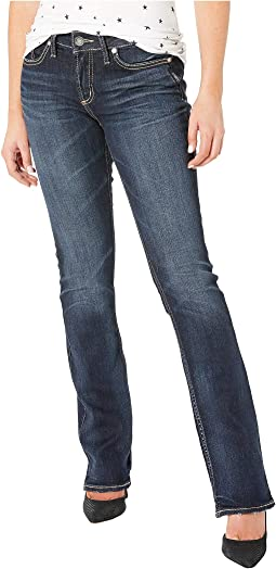 Elyse Mid-Rise Curvy Fit Slim Boot Jeans in Indigo