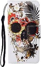 TYWZ Lederen Wallet Case voor Samsung Galaxy A32 5G, Flip Cover met Patroon Kichstand Kaarthouder Slot Bookstyle Bescherme...