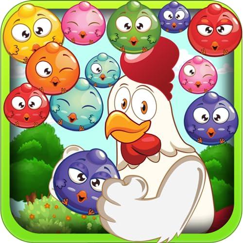 Chicken Rush Bubble Shooter