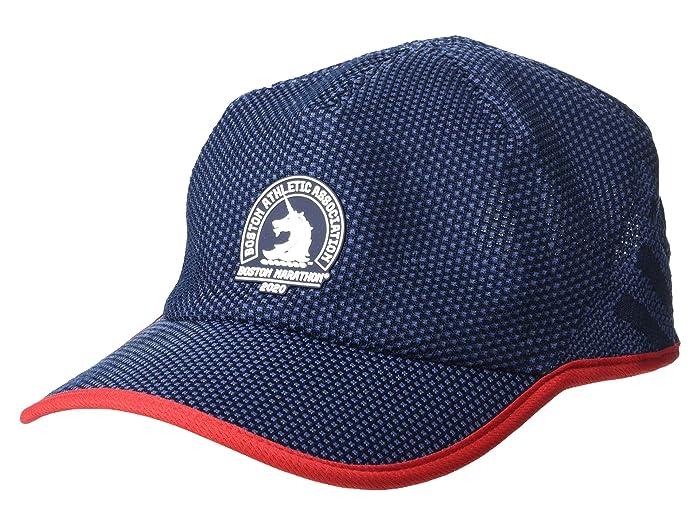 adidas  Boston Marathon Superlite Prime III Cap (Collegiate Navy/White/Scarlet) Caps