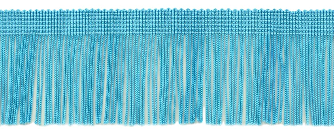 DecoPro 11 Yard Value Pack of 2 Inch Chainette Fringe Trim, Style# CF02 Color: Turquoise - 04 (32.5 Feet / 10M)