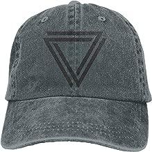 uykjuykj Perfectly Simple Triangle Classic Cotton Dad Hat Plain Cap Custom Denim Baseball Cap for Adult Comfortable Trucker Cap Sport For Men Women