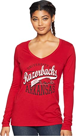 Arkansas Razorbacks Long Sleeve V-Neck Tee