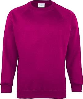 Maddins Kids Unisex Coloursure Crew Neck Sweatshirt/Schoolwear (Pack of 2)