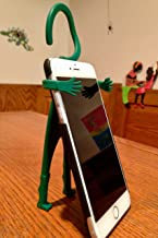 Off Oui Go with Huggy The Hangman Multifunctional Phone Holder, The Most Bendable Silicone Holder. Suits All Cell Phones, Tablets, Video Games & More (Green)