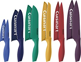 Cuisinart C55-12PCKSAM 12 Piece Color Knife Set with Blade Guards (6 knives and 6 knife..