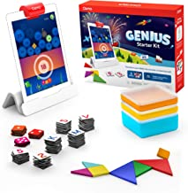 Osmo - Genius Starter Kit for iPad - 5 Hands-On Learning Games - Ages 6-10 - Math, Spelling, Problem Solving, Creativity &...