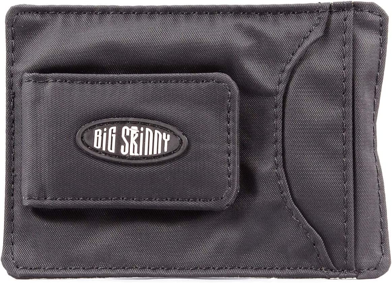 Big Skinny Men's Magnetic Money Clip Slim Wallet, Holds Up to 12 Cards