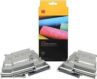 Kodak Mini Photo Printer Cartridge PMC - All-in-One Paper & Color Ink Cartridge Refill - 50 Pack (Compatible ONLY with Original Mini Printer, NOT Mini2, Mini Shot)