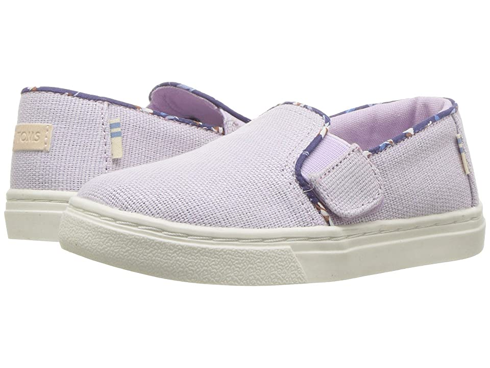 TOMS Kids Luca (Infant/Toddler/Little Kid) (Lavender Heritage Canvas) Girl