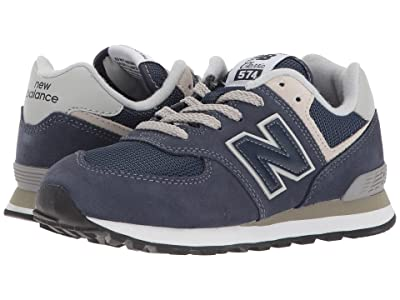New Balance Kids PC574v1 (Little Kid) (Navy/Grey) Boys Shoes