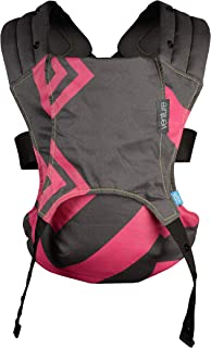 We Made Me Venture 2-in-1 Baby Carrier, Bubblegum Charcoal Zigzag