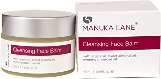 All Natural Makeup Remover Cleansing Balm with Argan, Sweet Almond, Jojoba, and Evening Primerose Oil | Moisturize and Sooth Tired Skin while Cleansing Away Makeup, Dirt, and other Build-up