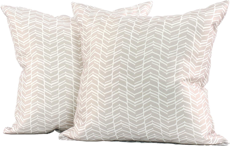 LJ Quality inspection Home Fashions 224 Chevron Geometric Square Pillow Print Las Vegas Mall Throw