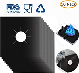 """Stove Burner Covers,MSDADA Gas Range Protectors For Kitchen 0.2mm Upgrade Double Thickness Reusable, Cuttable Dishwasher Safe Easy to Clean 10.6""""X10.6""""(10 PACKS)"""