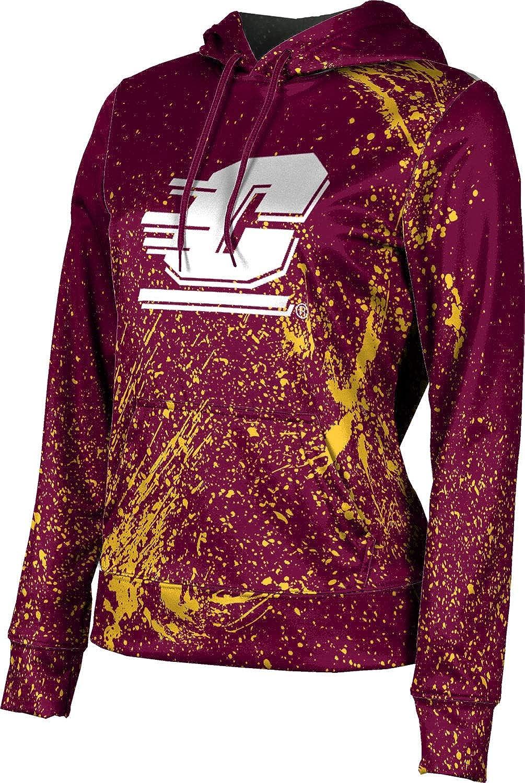 ProSphere Central Michigan University Girls' Pullover Hoodie, School Spirit Sweatshirt (Splatter)