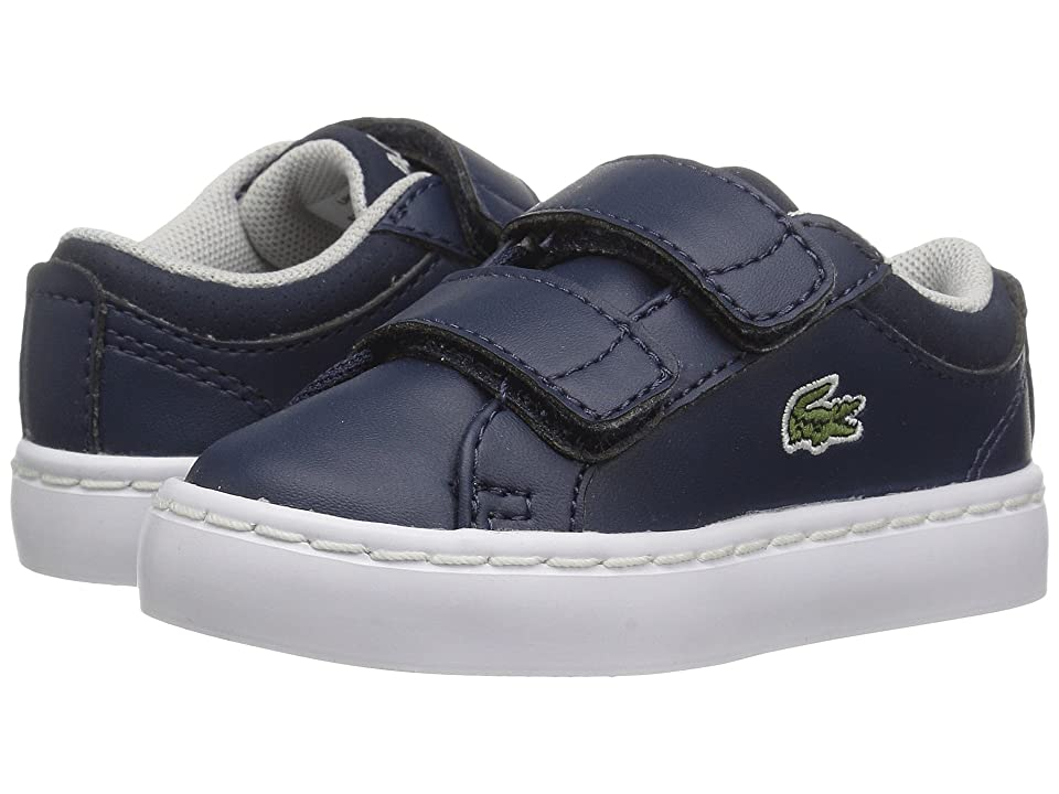 Lacoste Kids Straightset HL (Toddler/Little Kid) (Navy) Kid
