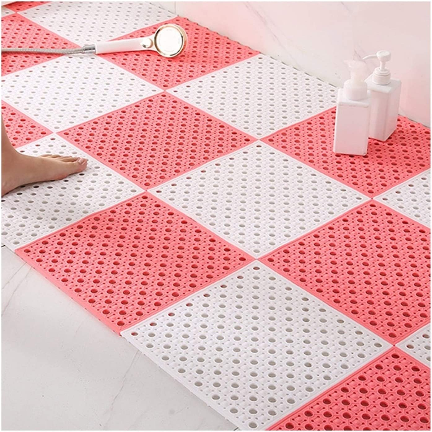 Shower Mats Environmental Protection PVC with Suction Cup Non-Sl