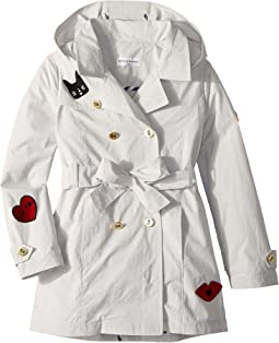 Alara Trench Coat w/ Patch Detail (Big Kids)