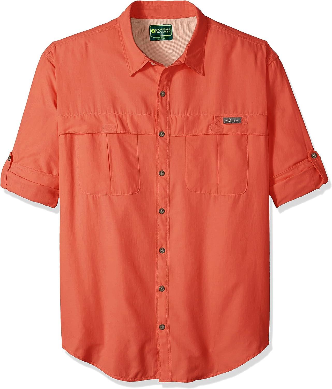 G.H. Bass & Co. Men's Big and Tall Explorer Fishing Long Sleeve Button Down Solid Shirt