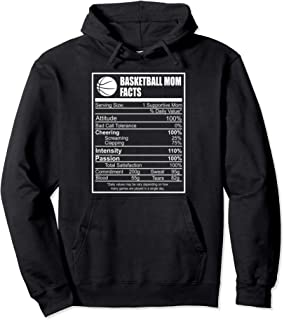 Funny Basketball Mom Nutrition Facts Proud Parent  Pullover Hoodie