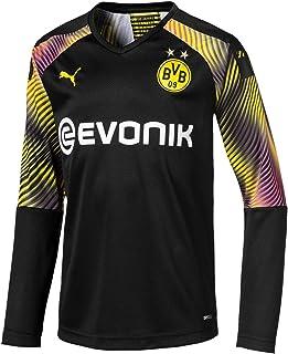 PUMA Jungen BVB LS GK Shirt Replica Jr with Evonik Without OPEL Torwarttrikot