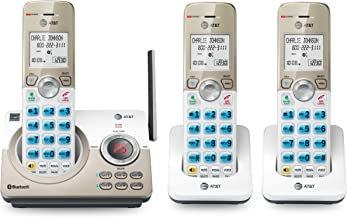 """AT&T DL72319 DECT 6.0 3-Handset Cordless Phone for Home with Connect to Cell, Call Blocking, 1.8"""" Backlit Screen, Big Butt..."""