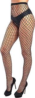 Sk by looksy Womens Black Fishnet Tights Net Stockings Diamond Pantyhose for Ladies Pattern Sexy Look
