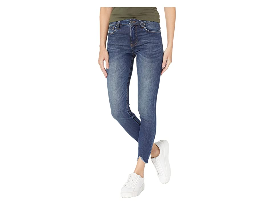 KUT from the Kloth Connie Ankle High-Rise Skinny Jeans w/ Step Hem in Behave w/ Dark Stone Base Wash (Behave w/ Dark Stone Base Wash) Women