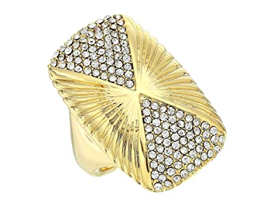 Vince Camuto Large Rectangle Ring (Gold/Crystal) Ring