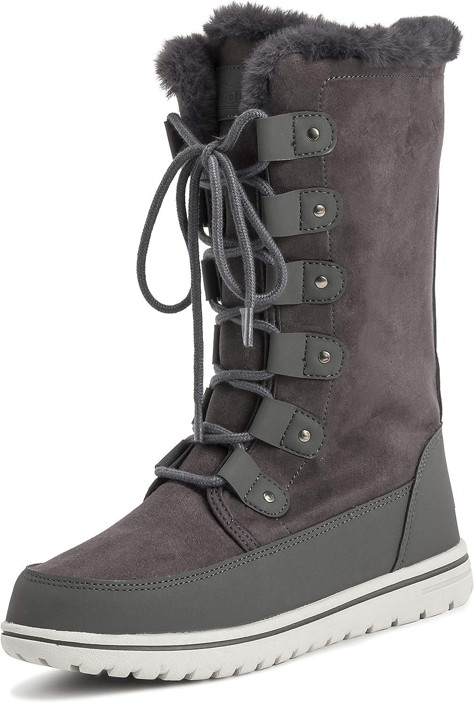 Polar Products Womens Rain Thermal Warm Snow Winter Knee High Waterproof Boots