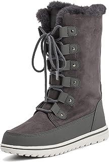 Polar Products Womens Tall Snow Warm Calf Waterproof Durable Outdoor Winter Rain Sneaker Side Zipper Boots