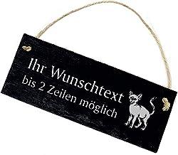 Deurbordje belplaat - Sphynx Sphinx kat met tekst naar keuze - leisteen gegraveerd 22x8cm