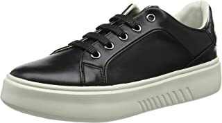 GEOX Womens Trainers D Nhenbus A Nappa Leather Casual Shoes - Black